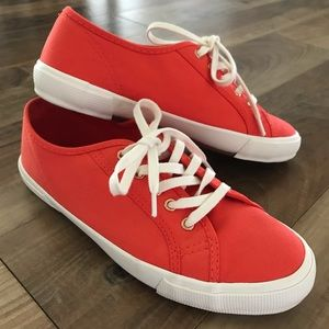 Bold Orange Statement Sneakers (Old Navy) Size 8